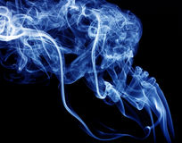 Blue smoke Royalty Free Stock Photo