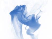 Blue smoke. On white background Royalty Free Stock Photos
