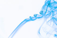 Blue Smoke. Isolated on withe Royalty Free Stock Image