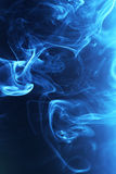 Blue smoke Stock Image