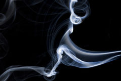 Blue smoke. Isolated on black Stock Photo