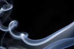 Blue smoke. Isolated on black Stock Image