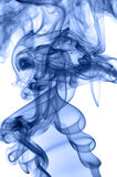Blue smoke. Photo on a white background Royalty Free Stock Photos