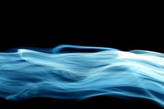 Blue smoke. Natural abstract backgrounds Royalty Free Stock Photo