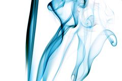 Blue smoke Royalty Free Stock Images
