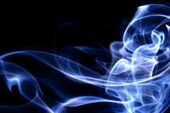 Blue smoke. Abstract background close up Stock Photography