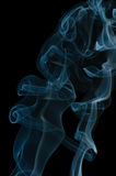 Blue smoke abstract Stock Image