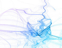 Blue smoke abstract Stock Photos