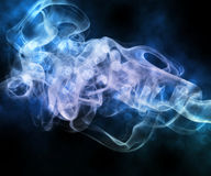 Blue Smoke Abstract Background Stock Images