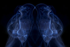 Heart shape smoke abstract background Stock Photos
