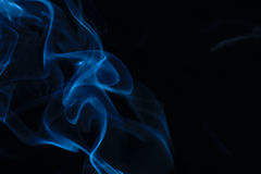 Blue smoke. Abstract background created by using smoke Stock Image