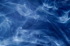 Blue smoke. Abstract background and texture Royalty Free Stock Photo