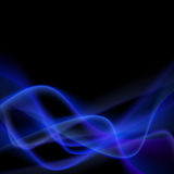 Blue smoke abstract glow light swoosh line Royalty Free Stock Photos