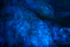 Blue smoke abstract texture background stock photo