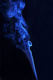 Blue smoke from aromas incense. Abstract background Royalty Free Stock Images
