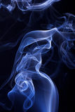 Blue smoke background Royalty Free Stock Photos