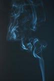 Blue smoke background close up Stock Photo
