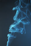 Blue smoke background close up Royalty Free Stock Photography