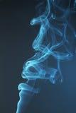 Blue smoke background close up Royalty Free Stock Photography