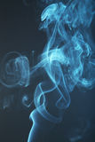Blue smoke background close up Royalty Free Stock Photos