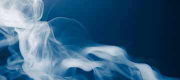 Blue smoke background. Copy-space background Royalty Free Stock Photography
