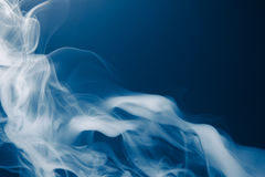 Blue smoke background Stock Image
