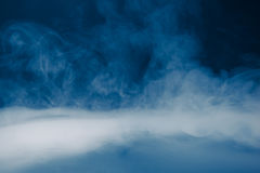 Blue smoke background and dense fog Royalty Free Stock Image