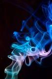 Blue smoke on black. Abstract Blue smoke on black Stock Photo