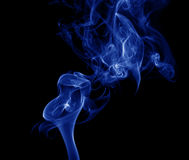 Blue smoke. Royalty Free Stock Images