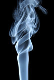 Blue smoke on black background Royalty Free Stock Photos