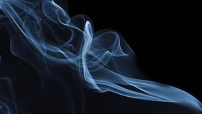 Blue Smoke on black background. Detail of Blue Smoke on black background Royalty Free Stock Image