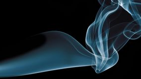 Blue Smoke on black background. Detail of Blue Smoke on black background Stock Images