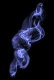 Blue smoke on a black background Stock Photography