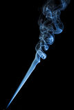 Blue smoke on black background Stock Photos