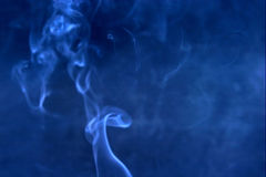 Blue smoke blur Stock Photo