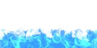Blue smoke border. Stock Images