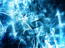 Blue Smoke Effect Style Wallpaper Background Stock Image