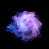 Blue smoke explosion isolated on black Royalty Free Stock Image
