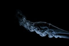 Blue smoke isolated. On black Royalty Free Stock Images
