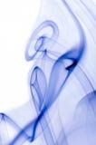 Blue smoke isolated on white Stock Image