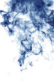 Blue smoke isolated on white Stock Photography