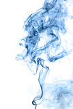 Blue smoke isolated on white Royalty Free Stock Photography
