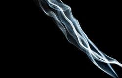 Blue Smoke On Black Stock Photo