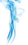 Blue smoke trail stock photo