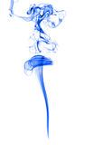 Blue smoke on white Stock Photo