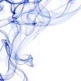 Blue smoke on white Stock Photo