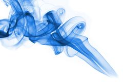 Blue smoke on white background Royalty Free Stock Photo