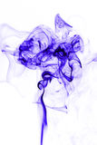 Blue smoke. On white background Stock Image