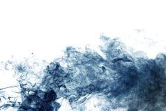Blue smoke on white Stock Image