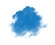 Blue smoke. On a white background Royalty Free Stock Image